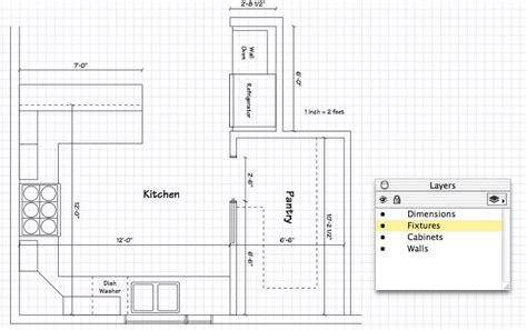 drawing a floor plan to scale kitchen floor plan