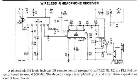 infrared based schematics circuits  diagram