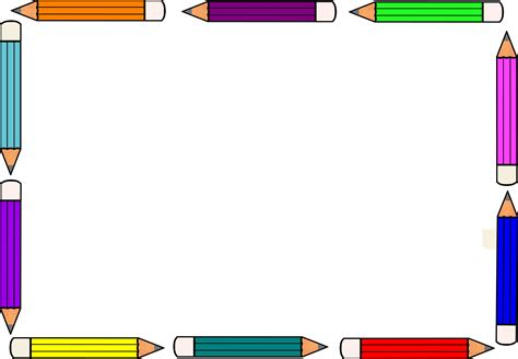 clipart borders crayon clipart classroom borders pencil and in color