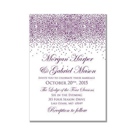 printable wedding invitation lavender printable wedding invitation purple wedding purple