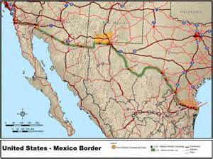 Mexico Usa Border Map united states mexico border map car tuning