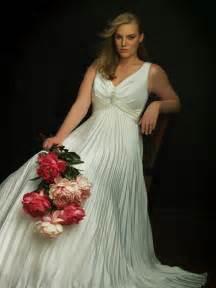 unique a line silhouette plus size wedding dress prlog