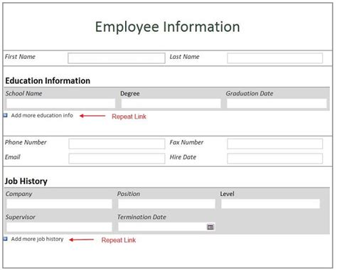employee information template employee information form template