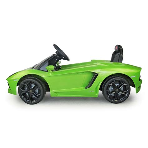 kid car lamborghini lamborghini aventador kids 6v electric ride on toy car w