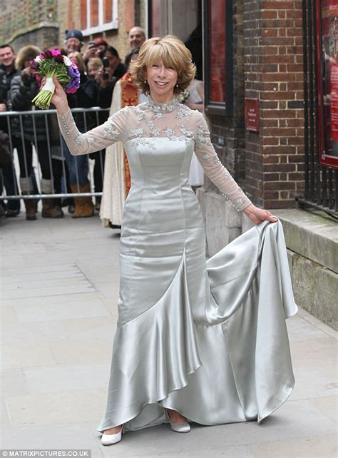 Coronation Street star Helen Worth wears silver wedding
