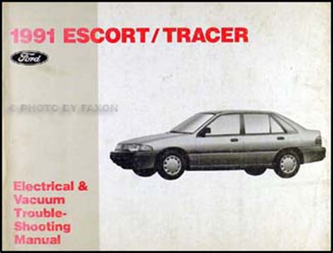 free car manuals to download 1991 mercury tracer auto manual 1991 ford escort and mercury tracer electrical and vacuum troubleshooting manual ebay