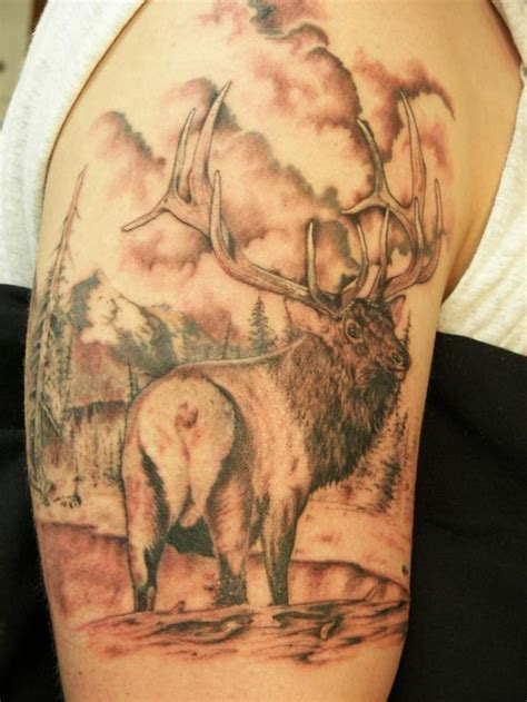 elk tattoo i love this hunting bow shoots fishing