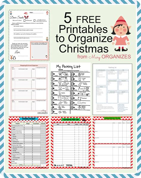 printable christmas organiser 5 free printables to organize christmas