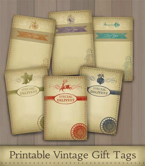 free printable vintage christmas gift tags car interior