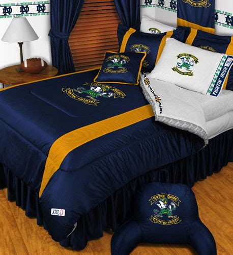 ncaa notre dame fighting irish 4pc bedding set twin