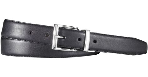 polo ralph leather reversible dress belt in black