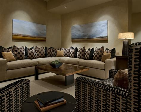 modern family room modern spanish traditional interior design by ownby