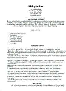 Billing And Coding Description by Billing And Coding Resume 22 Resume Exles For Billing And Coding