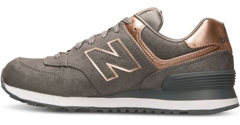 New Balance Silver Brown new balance s 574 precious metals casual sneakers from finish line in brown silver