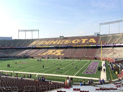 bank sections tcf bank stadium section 135 rateyourseats com