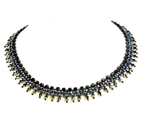 black necklace pattern free pattern schema for necklace black river beads magic