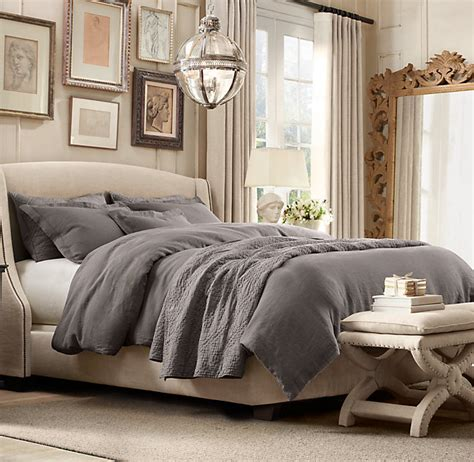 restoration hardware beds restoration hardware stone washed belgian linen duvet