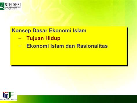 Ekonomi Islam 2 2 konsep dasar ekonomi islam