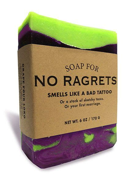 soap for tattoos soap for no ragrets regrets and humor