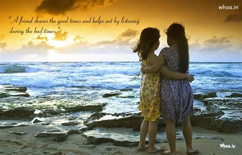 two girls friendship natural wallpaper with friendship quote