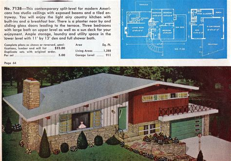 50s modern home design garlinghouse no 7138 from garlinghouse deluxe small