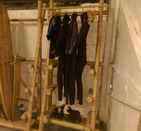 Wetsuit Drying Rack by Bamboo Wetsuit Rack Surf Board Display Board Storage
