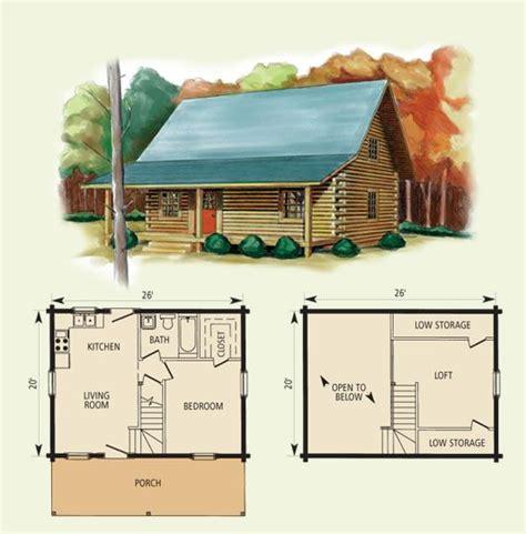 26 Ft X 20 Ft Log Cabin Floor Plan Log Home Kits Log 20 X 26 House Plans