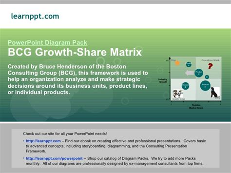 bcg growth share matrix powerpoint templates