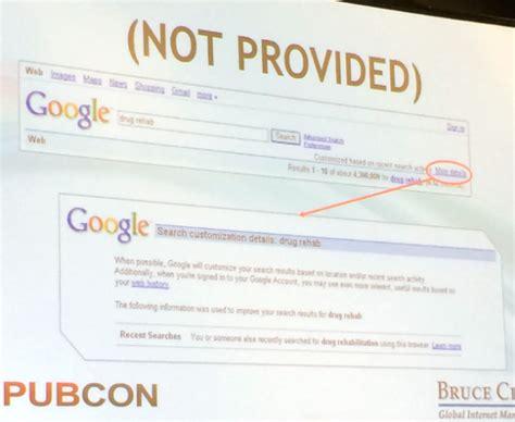 not provided pubcon liveblog algorithm chaos keyword not provided
