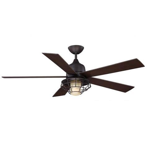 Indoor Outdoor Ceiling Fan by Illumine Gigg 52 In Bronze Indoor Outdoor Ceiling