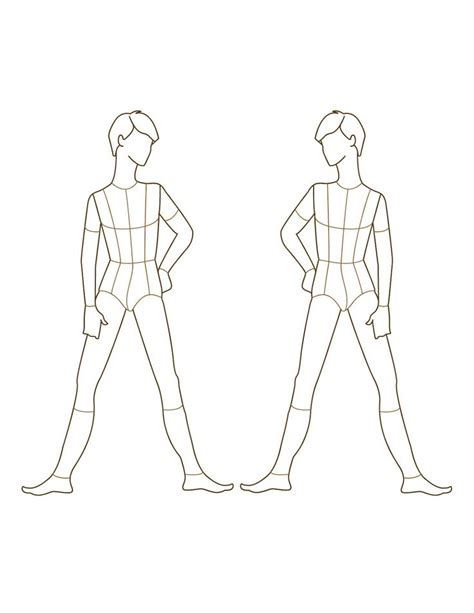 fashion template back pin by the chaos clan on template design croquis