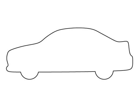 car template printable car pattern use the printable outline for crafts