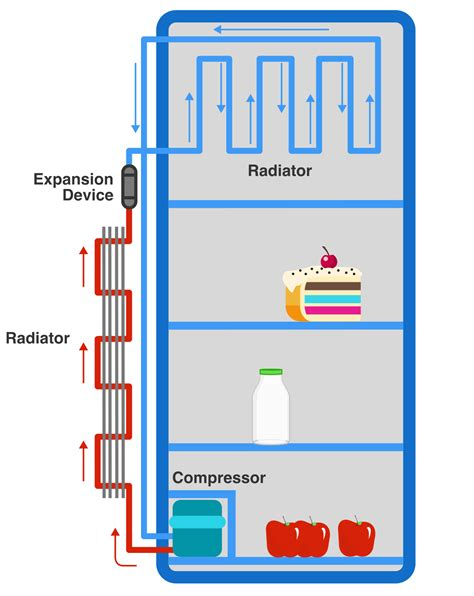 how refrigeration works diagram how does a refrigerator work practice problems