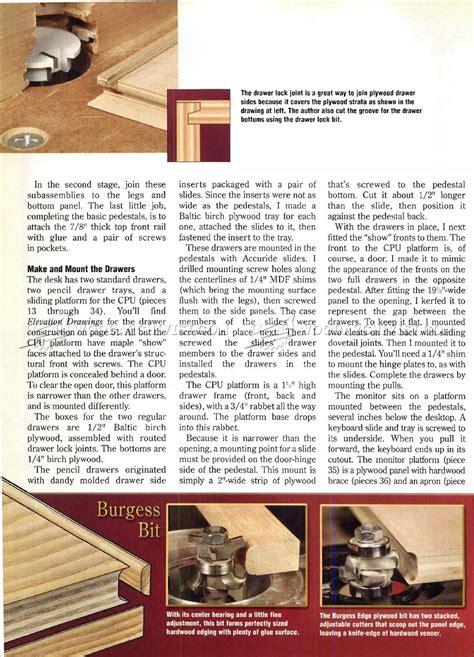 wood computer desk plans computer desk plans woodarchivist