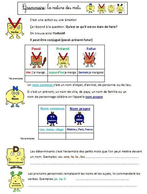 production layout en francais mon fichier d exercices sur la nature des mots ce1 ce2