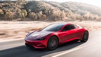Tesla Roadster Wallpaper 2020 Tesla Roadster Color On Road Speed Uhd Wide