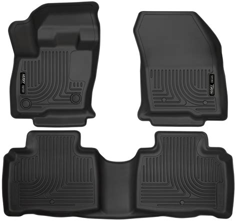 husky weatherbeater all weather floor mats for 2016 lincoln mkx 1st and 2nd rows ebay