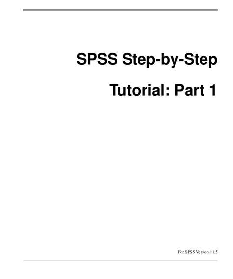 spss tutorial basic spss basics tutorial