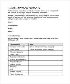 software project transition plan template sle transition plan 8 documents in pdf