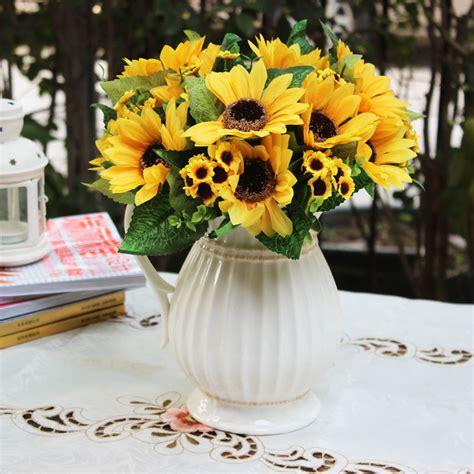 Flower Overall Inner One Set white ceramic teapot vase artificial sunflower artificial flower decoration flower overall