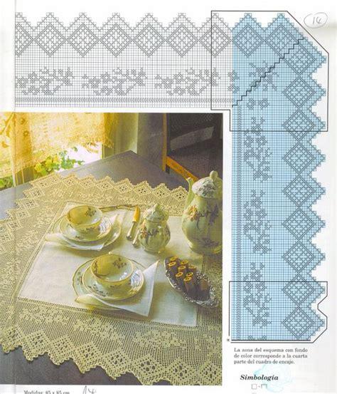 hermosos manteles images  pinterest crochet