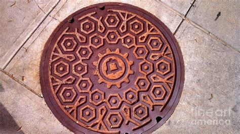 mã bel ma bell manhole cover photograph by gifford