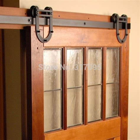 Free Shipping New Horseshoe Design 6ft Wooden Barn Door Barn Door Sliding Door Track