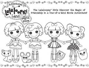 lalaloopsy coloring pages adventures in lalaloopsy land the search for pillow