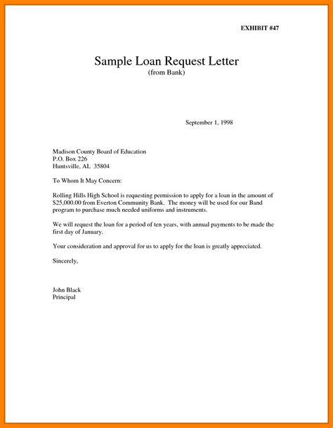 Sle Of Loan Request Letter To Company 5 How To Write Application For Loan Emt Resume