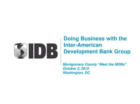 Inter American Development Bank Mba by Ppt Doing Business With The Inter American Development