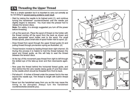 Threading The Upper Thread Singer 4432 Heavy Duty