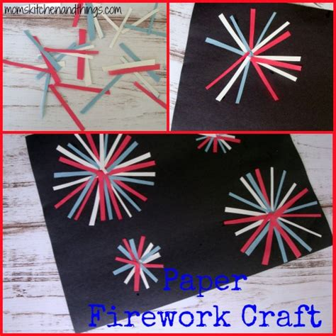 paper firework craft crafty morning