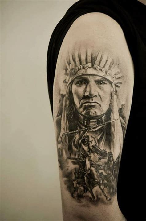 indian chief tattoos indian chief cool tattoos