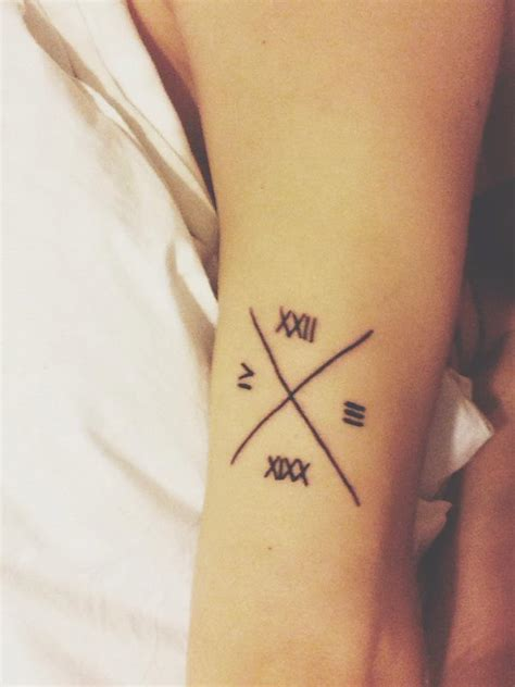 x tattoo ideas 30 cute roman numeral tattoos hative